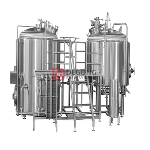 Beliebte Konfigurationen 2 Vessel Stainless Steel Industrial Brewhouse Equipment Hersteller Brauerei in England Liverpool